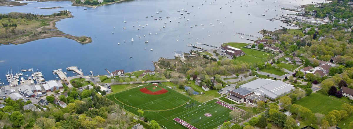 Aerial view of the work done by Greenscape at Tabor Academy.
