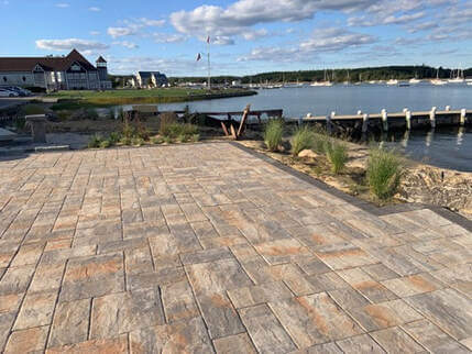 Paver Patio from the Tabor Academy project.