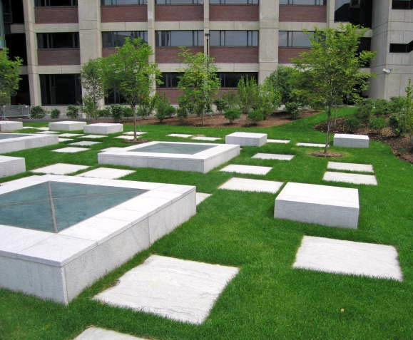 Modern Landscaping and Hardscaping for Corporate Offices