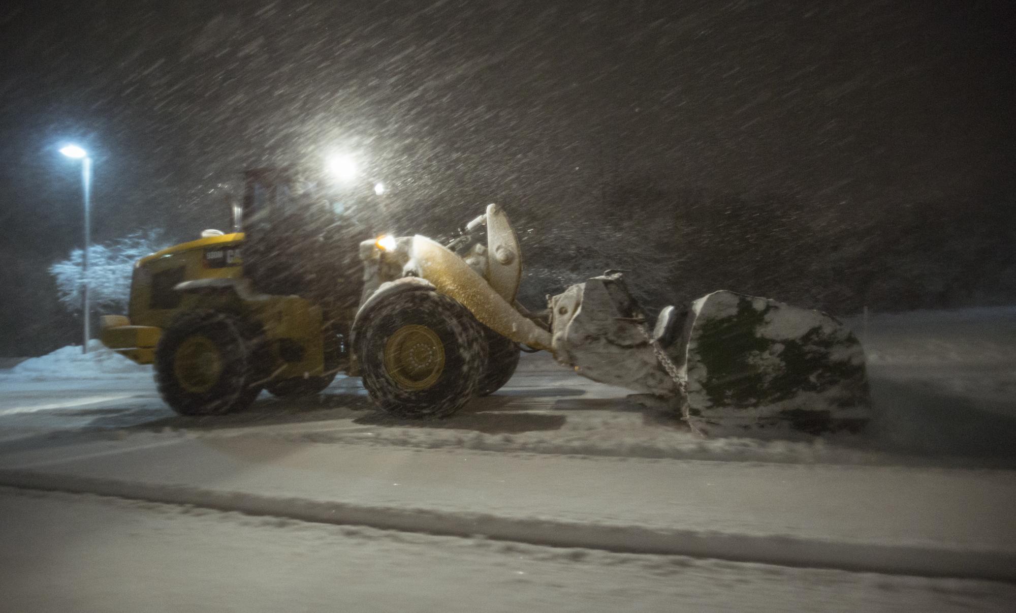 Heavy Equipment Used to Plow Snow