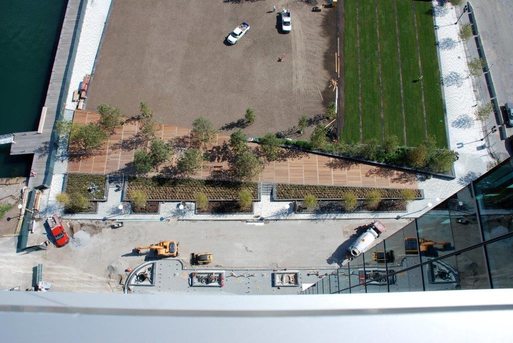 Hardscape Installation Aerial View