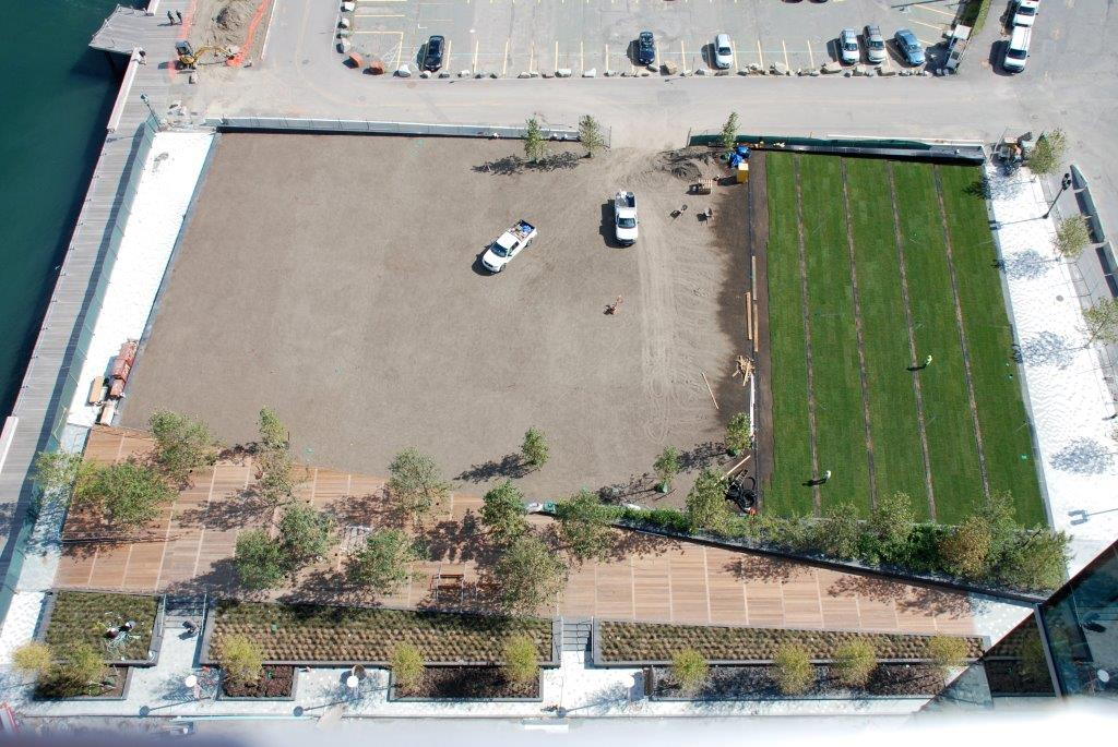 Fan Pier Aerial View of Landscape Construction