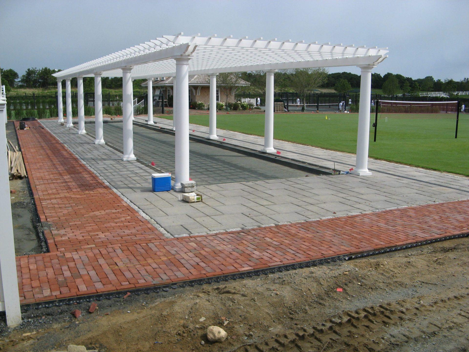 Field Club Pergola In Progress