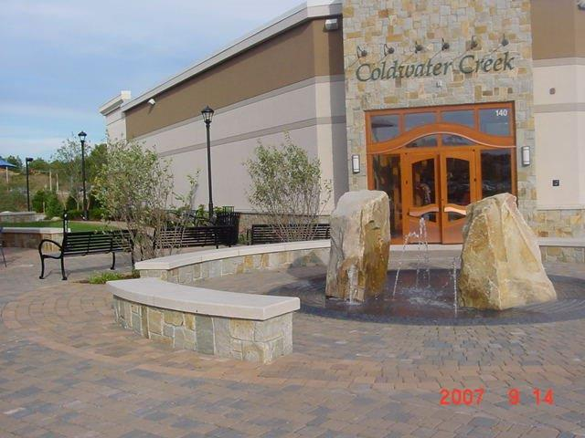 Coldwater Creek Hardscape and Fountain