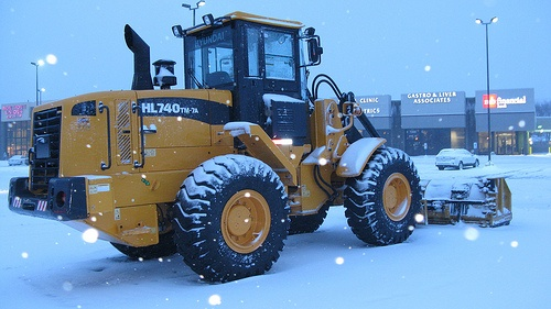 Loader Removing Snow